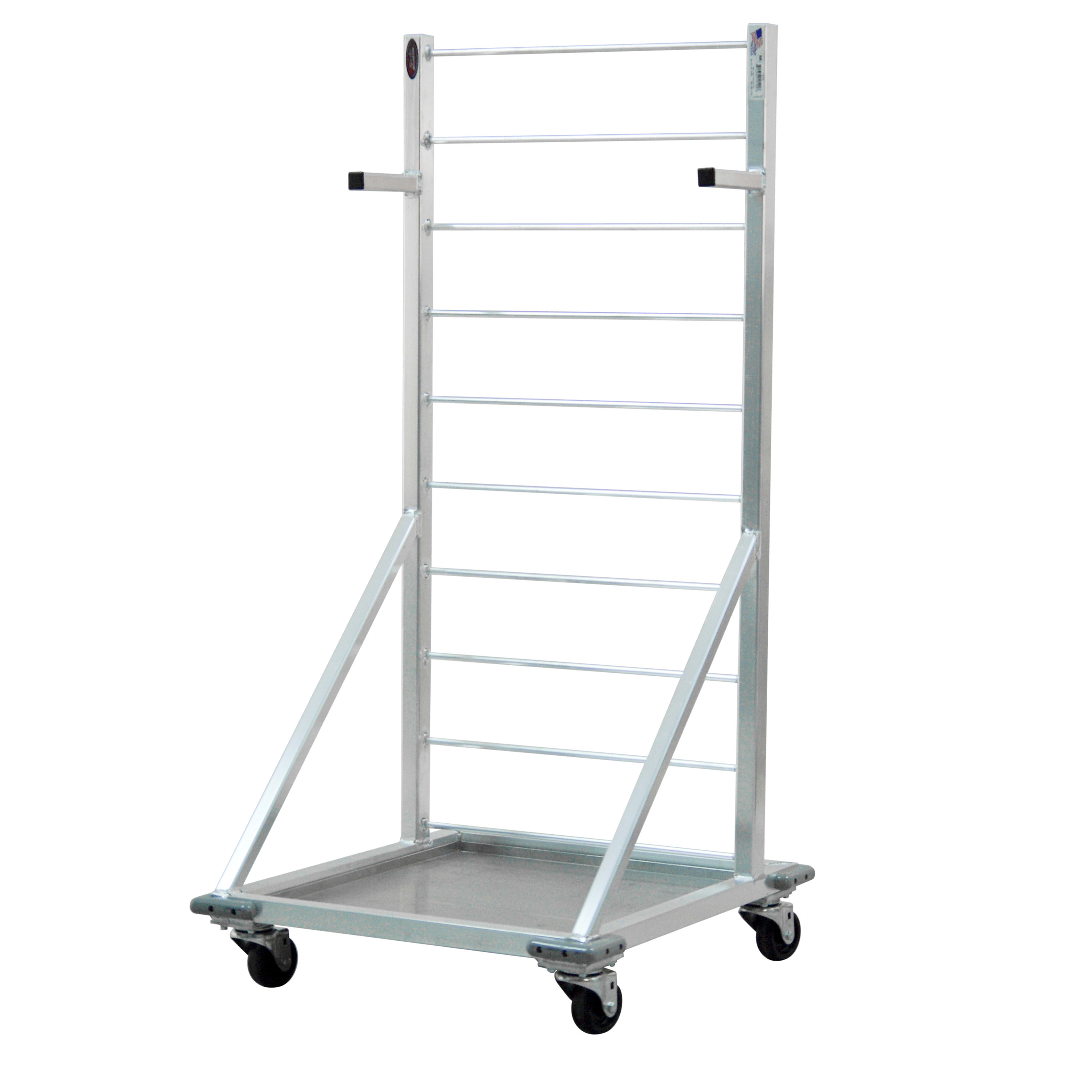 "New Age 1215 Fry Basket Rack w/ 27 Basket Capacity & 3"" Casters, 52.5x24.5x27"", Aluminum"