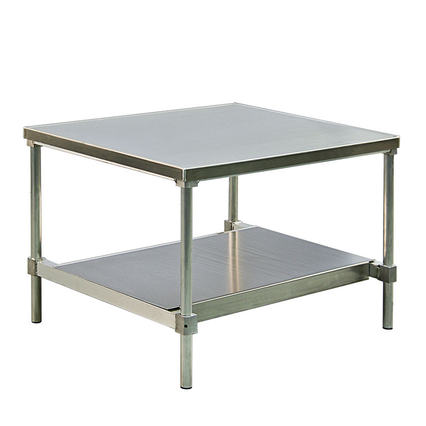 "New Age 12472GSU 72"" x 24"" Stationary Equipment Stand for General Use, Undershelf"