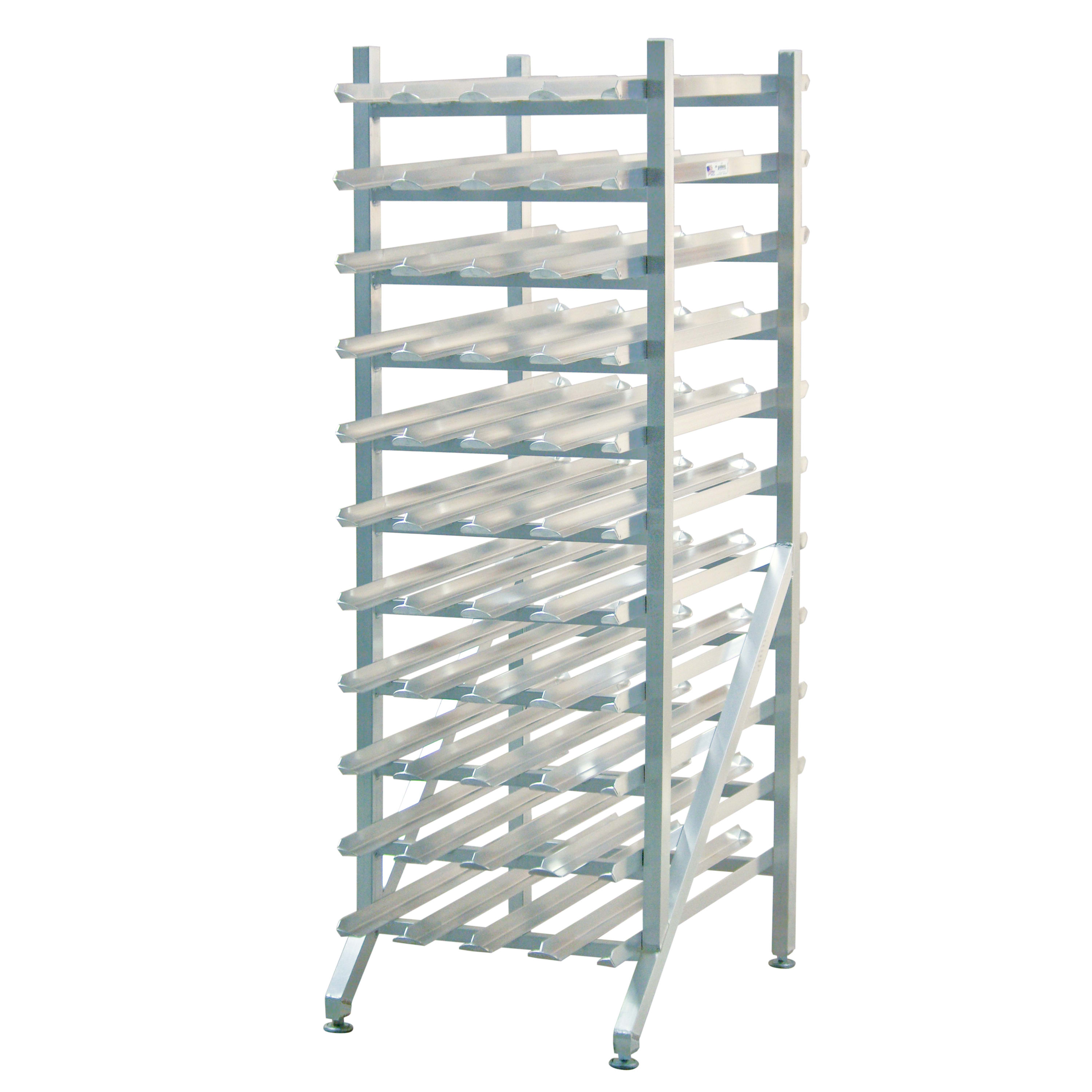 "New Age 1251 66""H Stationary Can Rack w/ (352) #2 1/2 or (484) #303 Capacity, Adjustable Feet"