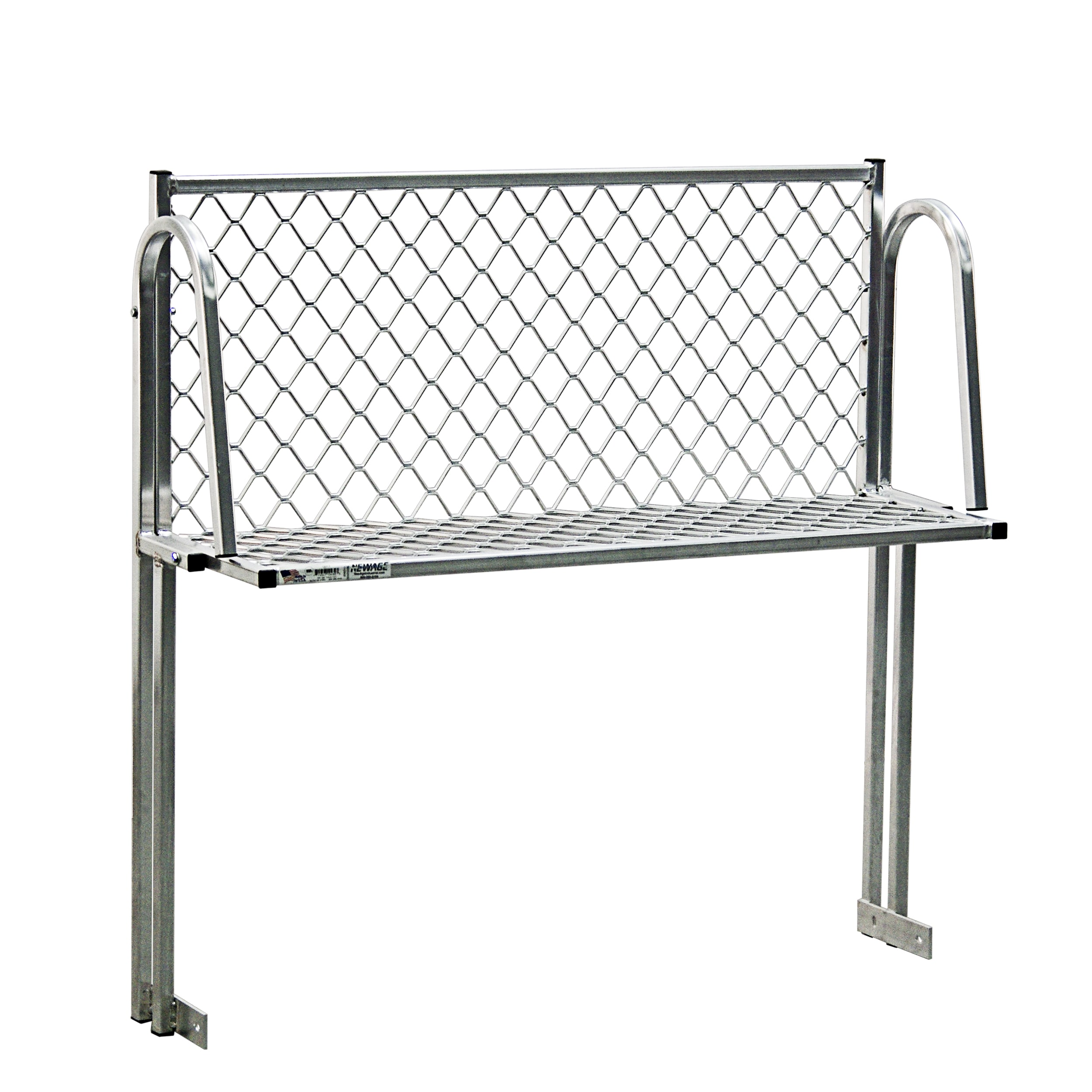 """New Age 1371T Table Mount Boat Rack w/ Mounting Brackets & Hardware, 48x15"""", Aluminum"""