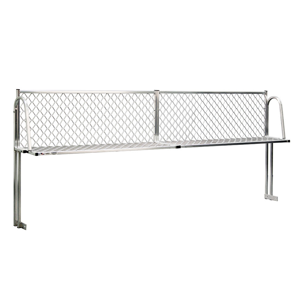 """New Age 1373T Table Mount Boat Rack w/ Mounting Brackets & Hardware, 72x15"""", Aluminum"""