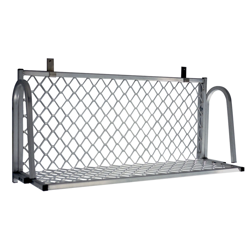 "New Age 1374W Boat Rack Wall Mounted Shelf, 96""W x 15""D, Aluminum"