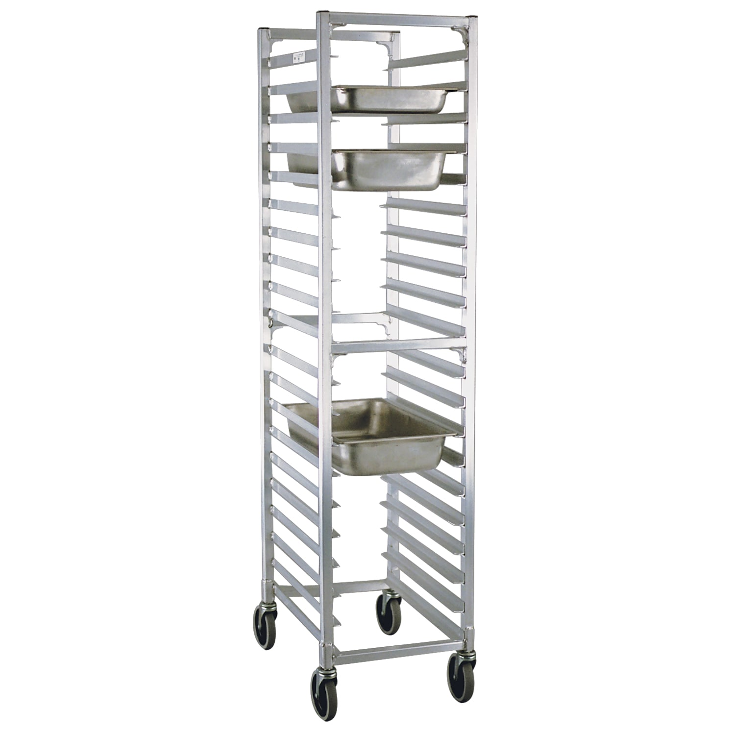 "New Age 1505 16.25""W 20 Steam Table Pan Rack w/ 3"" Bottom Load Slides"