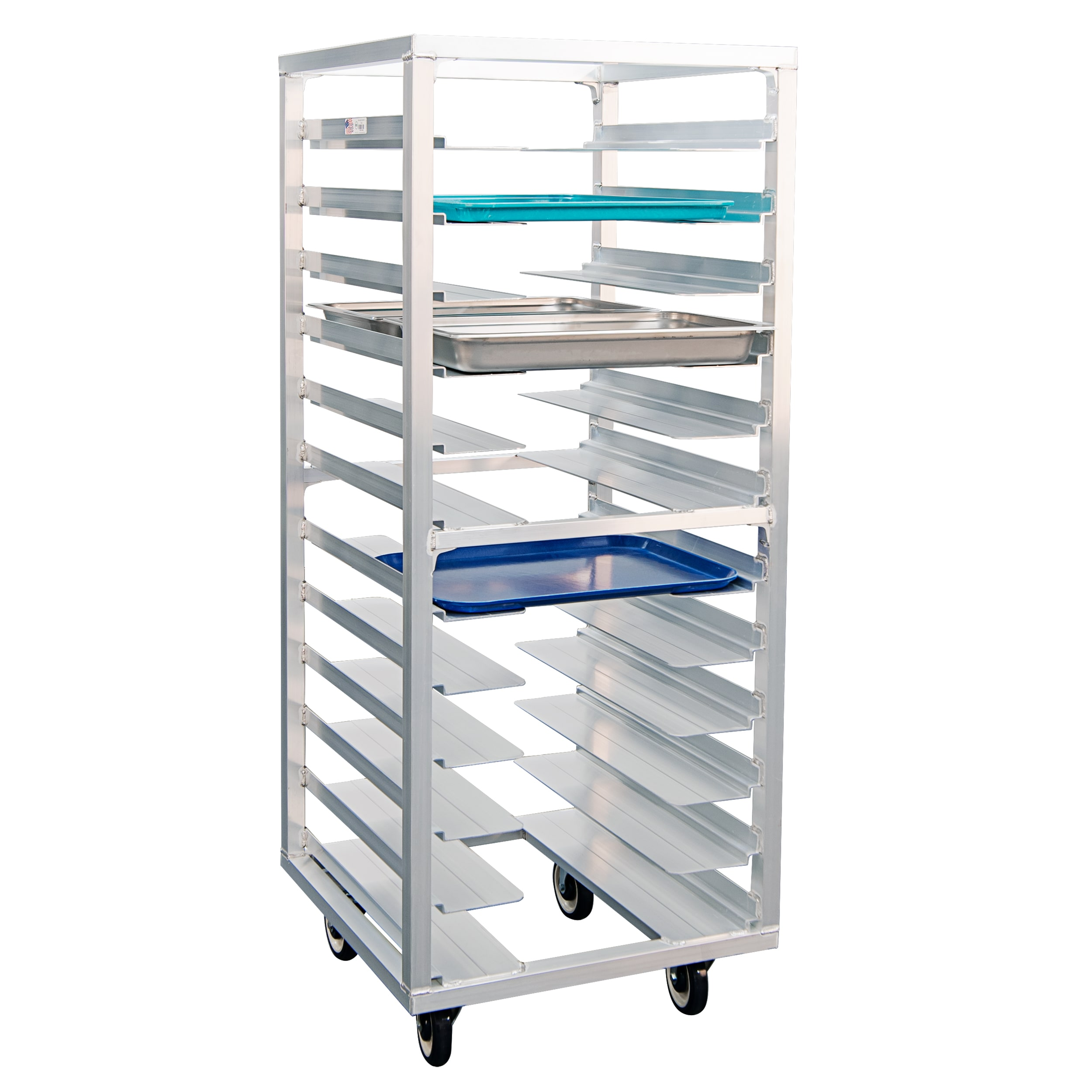 "New Age 1635 24.5""W 12-Sheet Pan Rack w/ 4.5"" Bottom Load Slides"