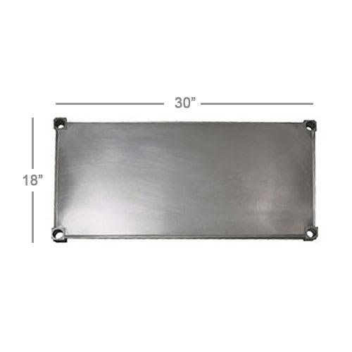 "New Age 1830S Aluminum Solid Shelf - 30""W x 18""D"