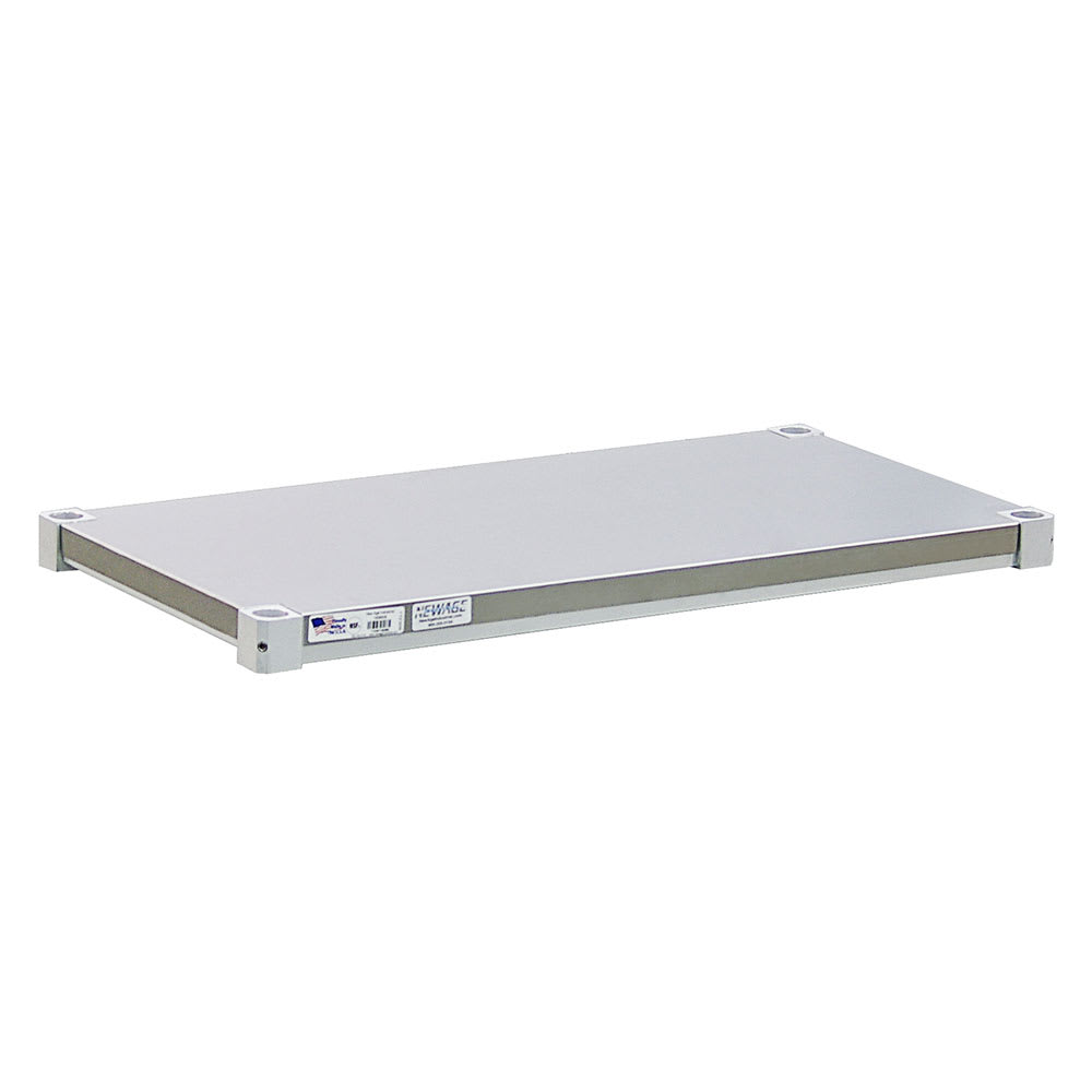 "New Age 1830SB Aluminum Solid Shelf - 30""W x 18""D"