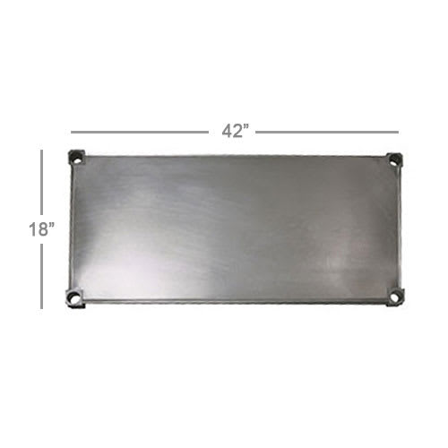 New Age 1842S Aluminum Solid Shelf - 18x42""