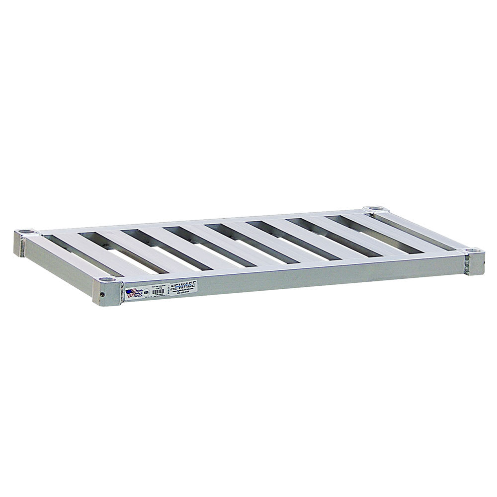 "New Age 1854TB Aluminum Tubular Shelf - 54""W x 18""D"