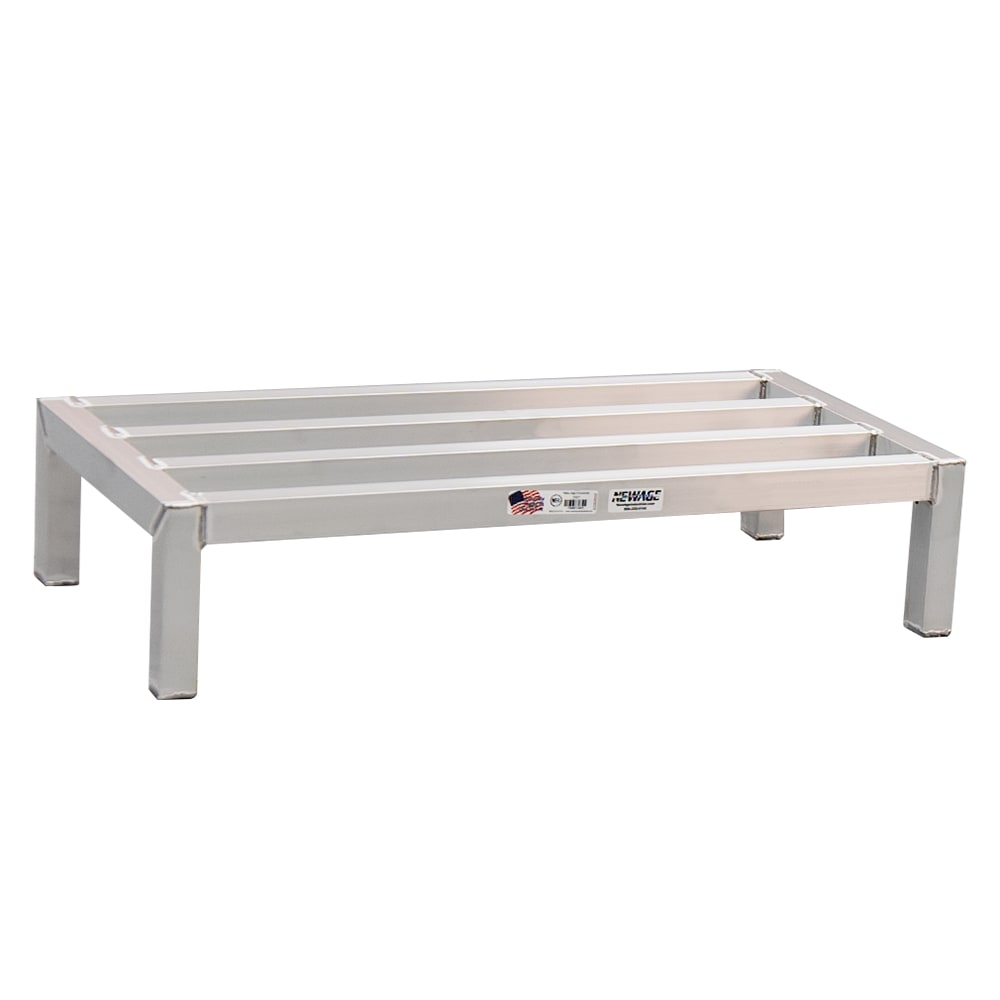 "New Age 2001 36"" Stationary Dunnage Rack w/ 3000-lb Capacity, Aluminum"