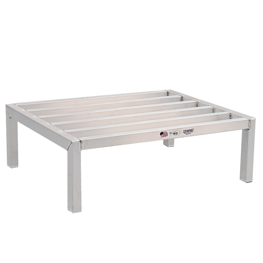"New Age 2008 36"" Stationary Dunnage Rack w/ 2500-lb Capacity, Aluminum"