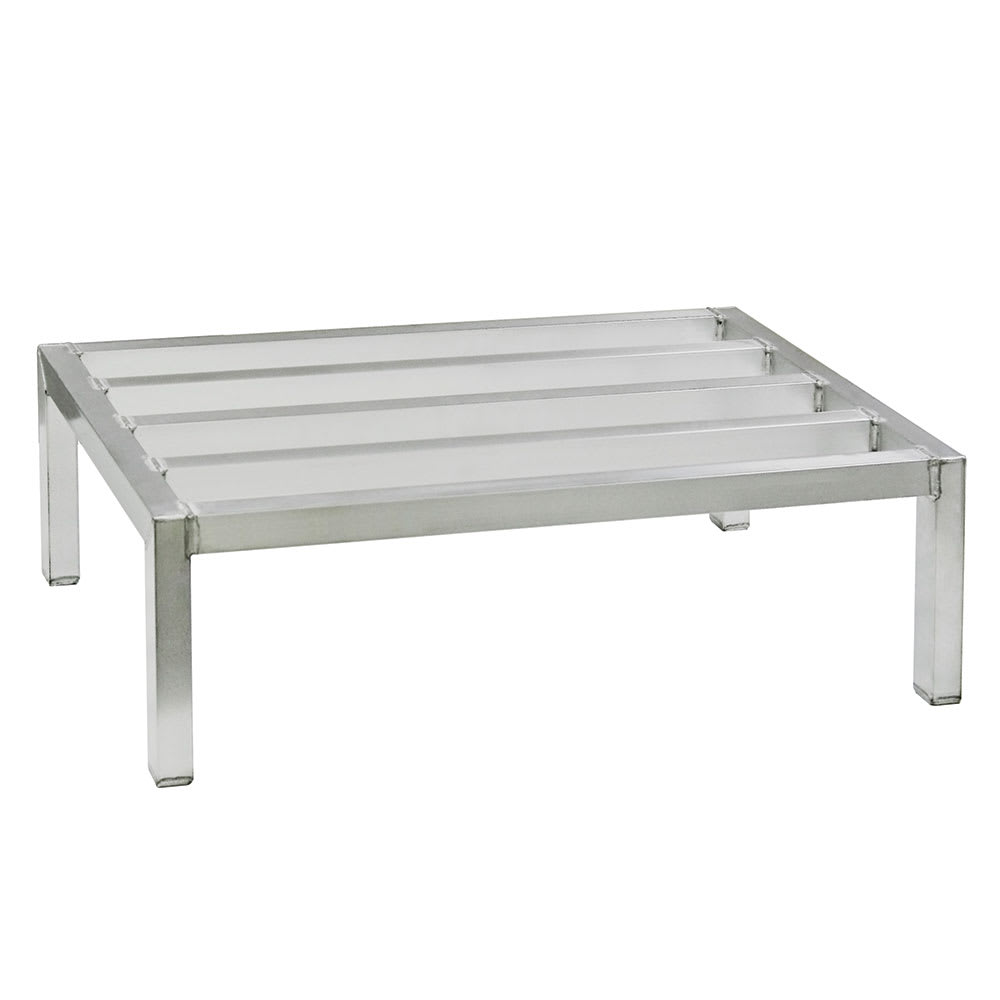 "New Age 2028 60"" Stationary Dunnage Rack w/ 2500-lb Capacity, Aluminum"