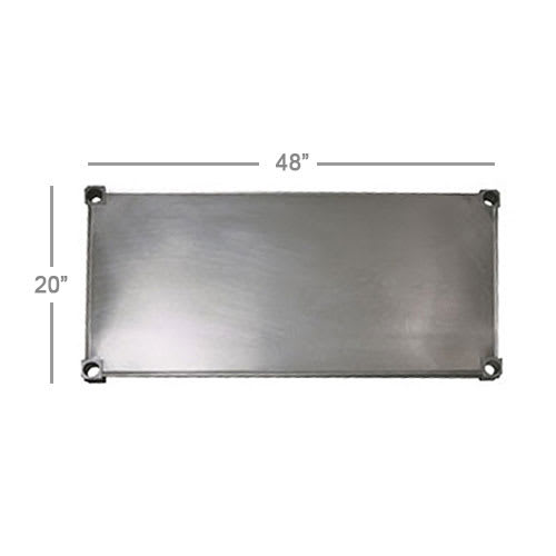 New Age 2048S Aluminum Solid Shelf - 20x48""