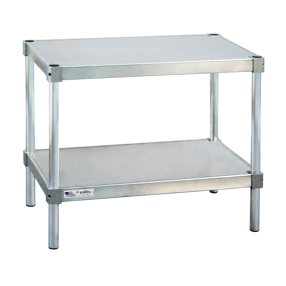 "New Age 21830ES24P 30"" x 18"" Stationary Equipment Stand for General Use, Undershelf"