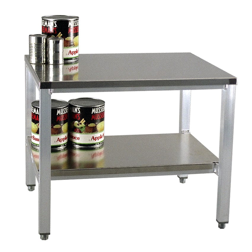"""New Age 24ESA29 24"""" x 29"""" Stationary Equipment Stand for General Use, Undershelf"""