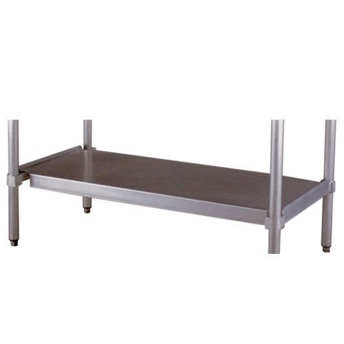 """New Age 24US48KD Undershelf for Work Table w/ Knock Down Frame, 48x24"""", Aluminum"""