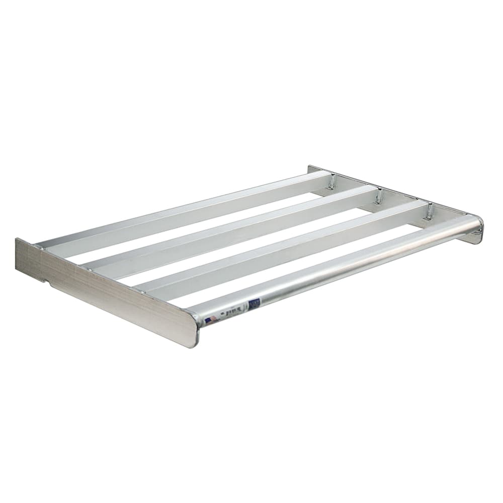 "New Age 2502 T-Bar Wall Mounted Shelf, 42""W x 18""D, Aluminum"