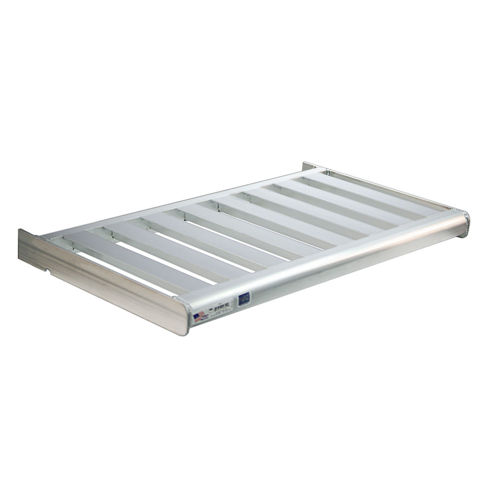 "New Age 2522 T-Bar Wall Mounted Shelf, 342""W x 18""D, Aluminum"
