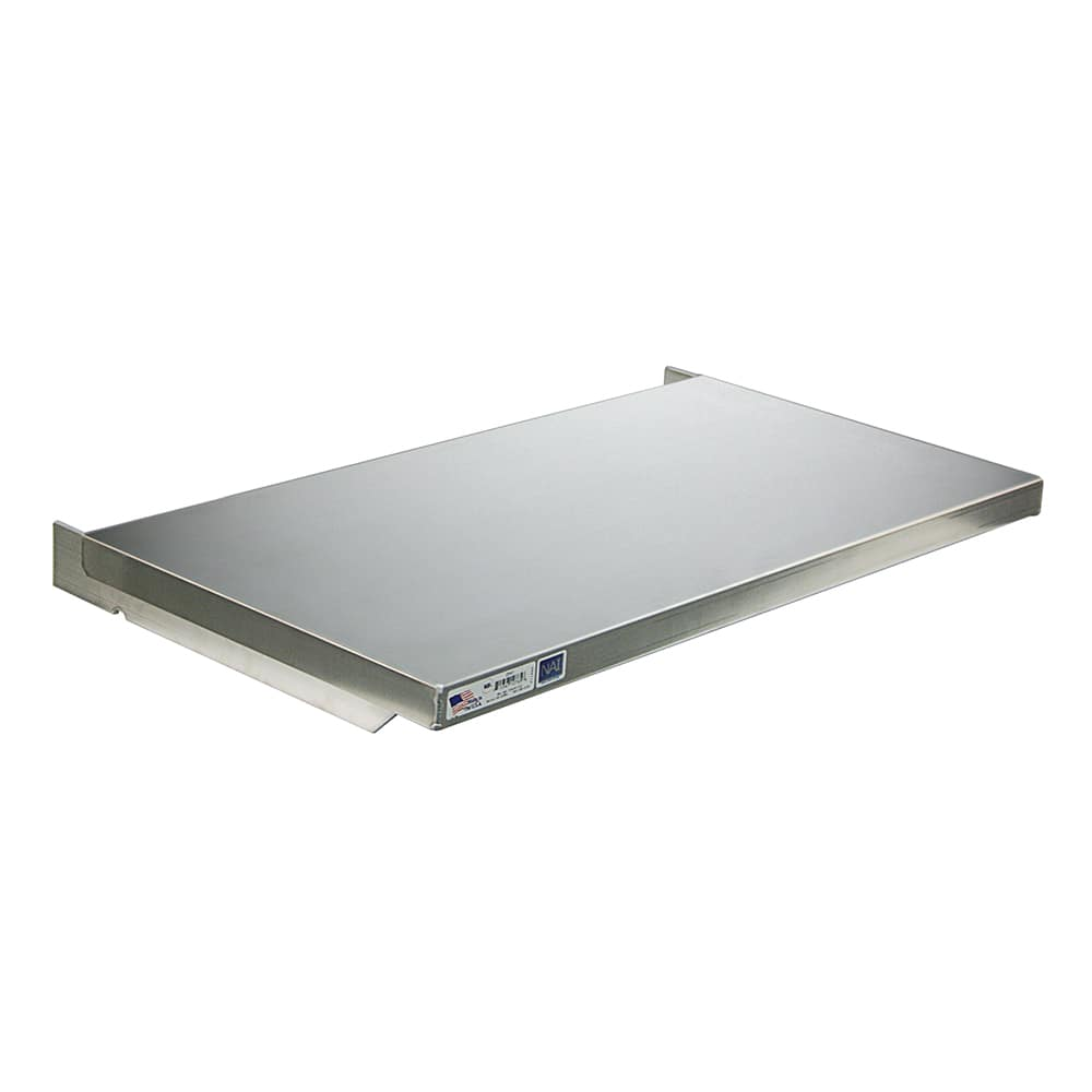 "New Age 2555 Solid Wall Mounted Shelf, 60""W x 24""D, Aluminum"
