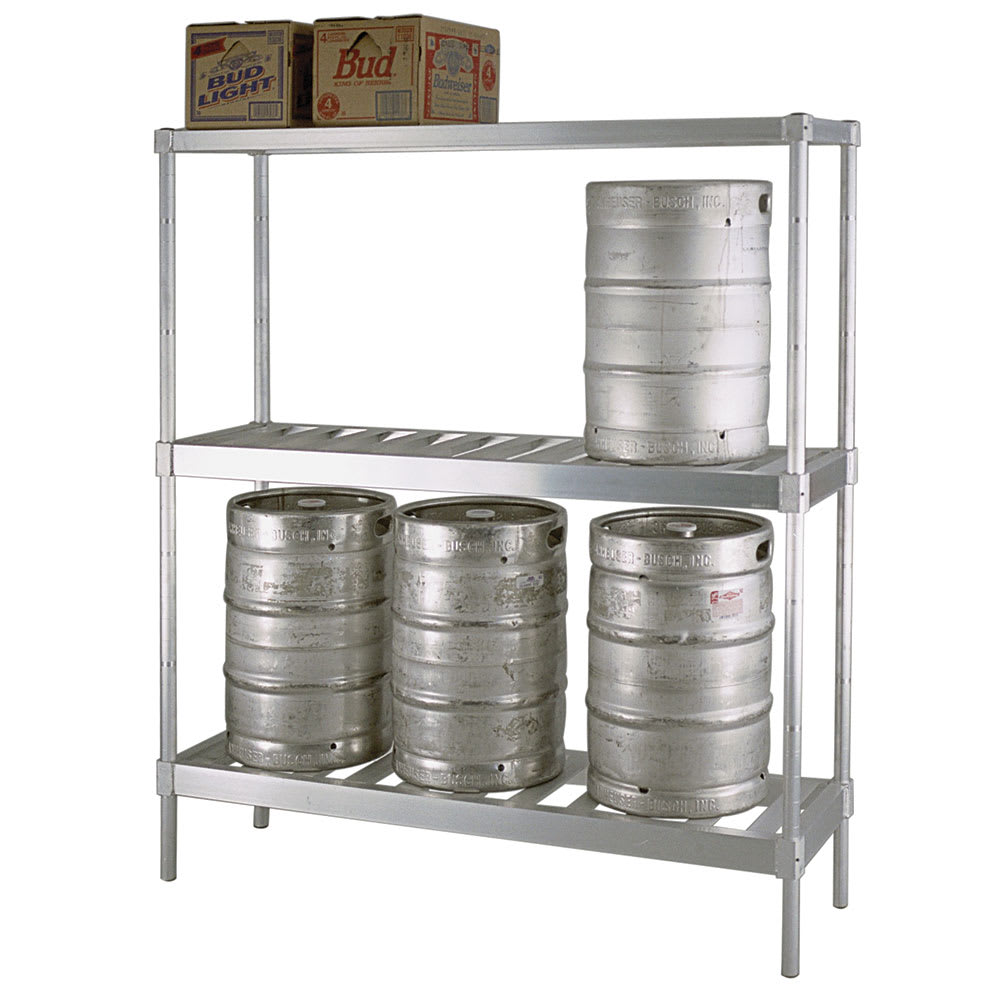 "New Age 31842TT7 (3) Level Keg Rack w/ (4) Keg Capacity, 42"" x 18"" x 76"""