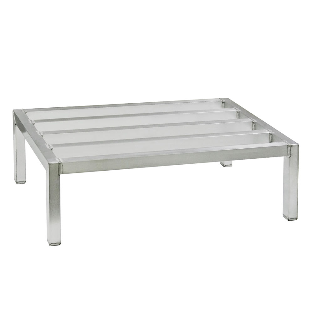 "New Age 4008 36"" Stationary Dunnage Rack w/ 4000 lb Capacity, Aluminum"