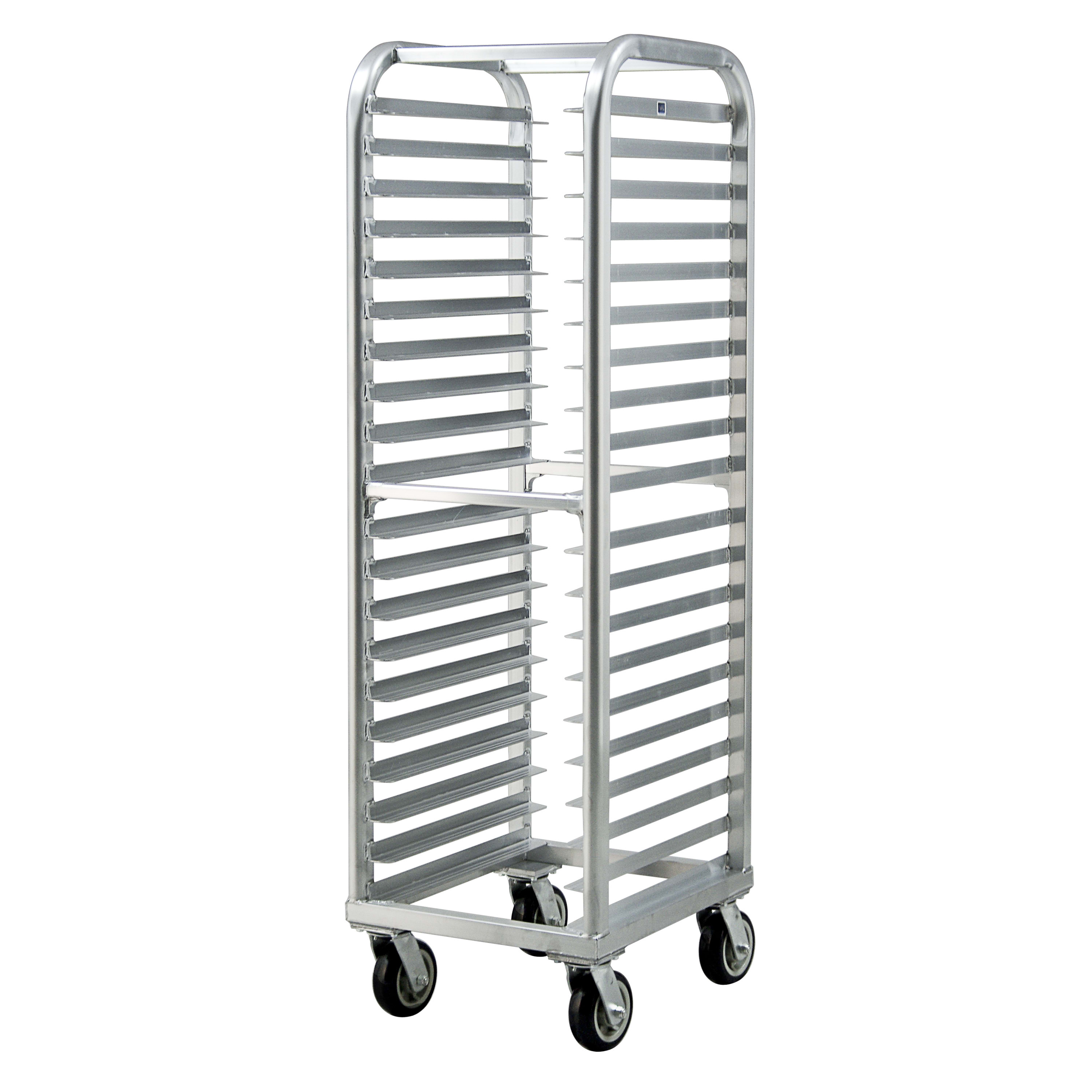 "New Age 4331 21.5""W 20-Bun Pan Rack w/ 3"" Bottom Load Slides"