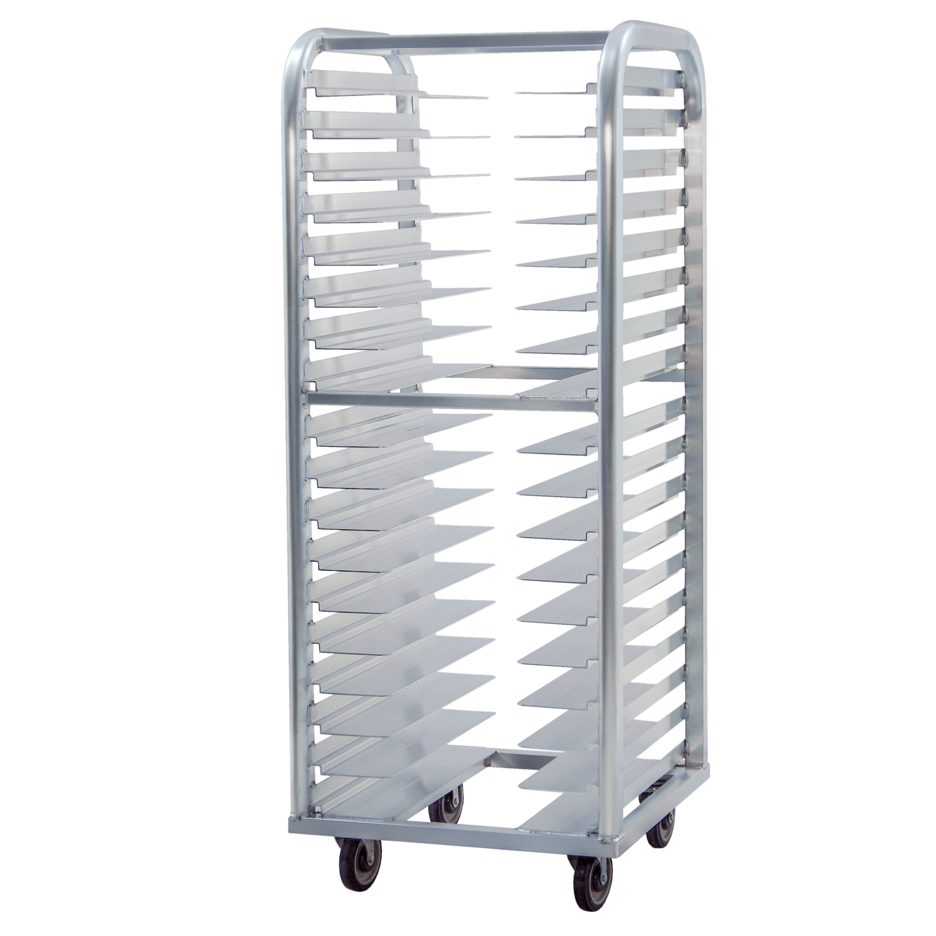 "New Age 4637 25""W 18 Bun Pan Rack w/ 3"" Bottom Load Slides"