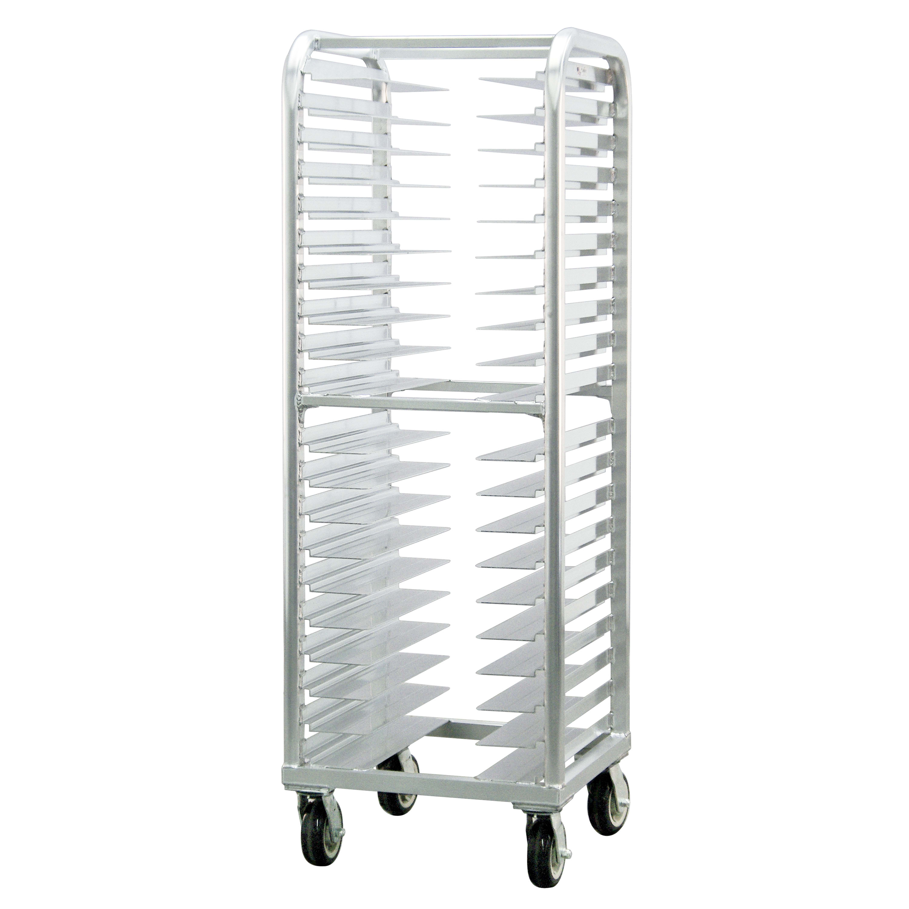 "New Age 4642 25""W 20-Bun Pan Rack w/ 3"" Bottom Load Slides"