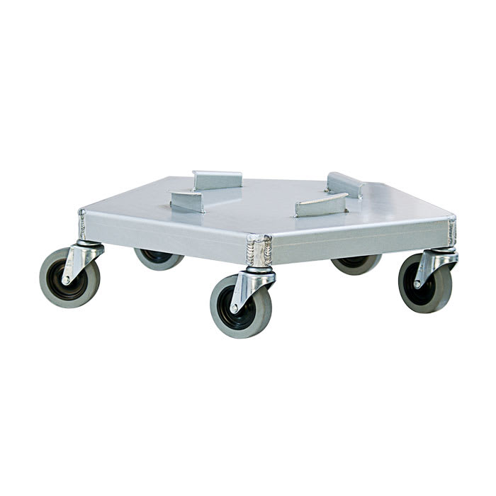 New Age 50125 Round Metal Trash Can Dolly w/ Raised Center & 125 lb Capacity