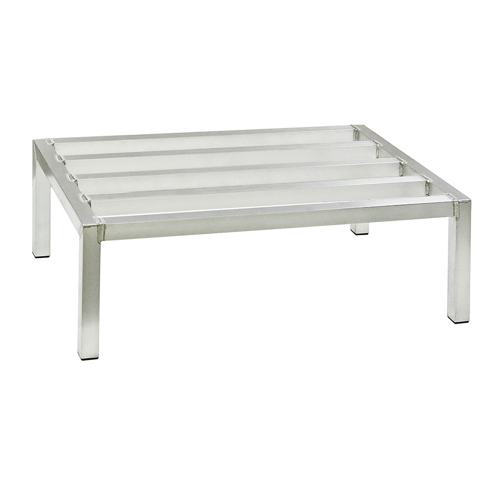 "New Age 6008 36"" Stationary Dunnage Rack w/ 2000-lb Capacity, Aluminum"