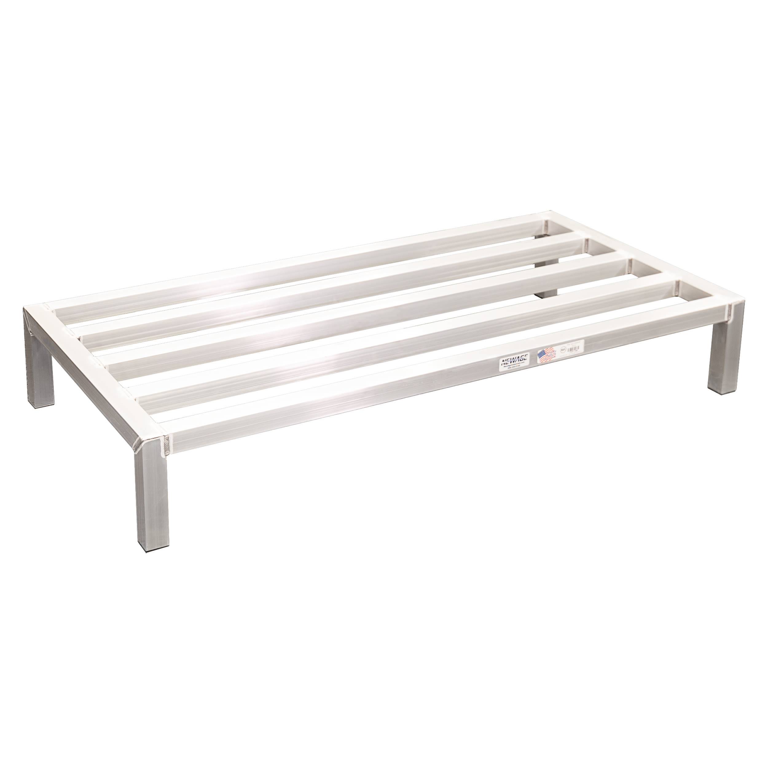 "New Age 6015 48"" Stationary Dunnage Rack w/ 2000 lb Capacity, Aluminum"