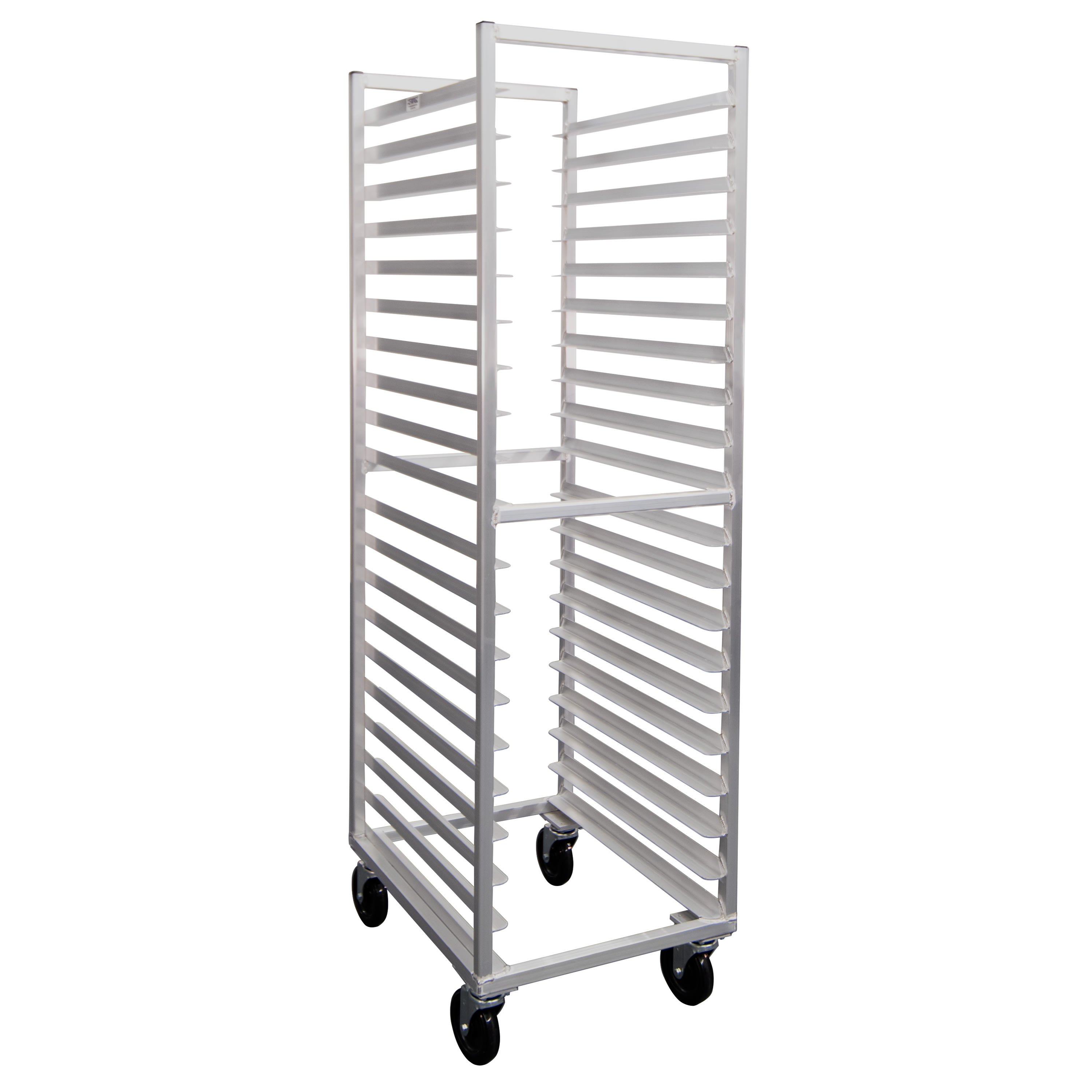 "New Age 7331 20.38""W 20 Bun Pan Rack w/ 3"" Bottom Load Slides"