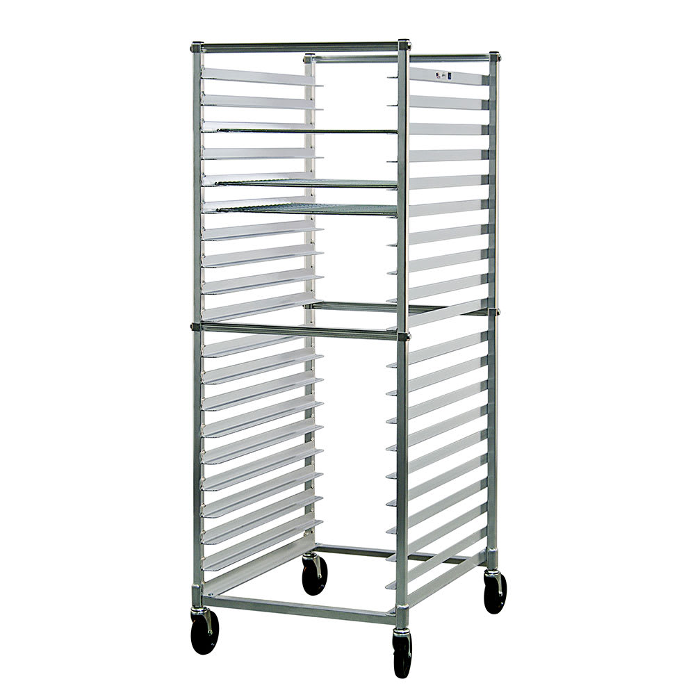 """New Age 93020KD Mobile Full Height Donut Screen Rack w/ Open Sides & (2)23x33"""" Pan Capacity"""