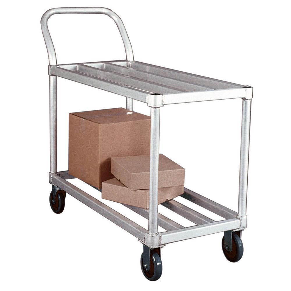 New Age 95661 2 Level Aluminum Utility Cart w/ 700 lb Capacity, Flat Ledges
