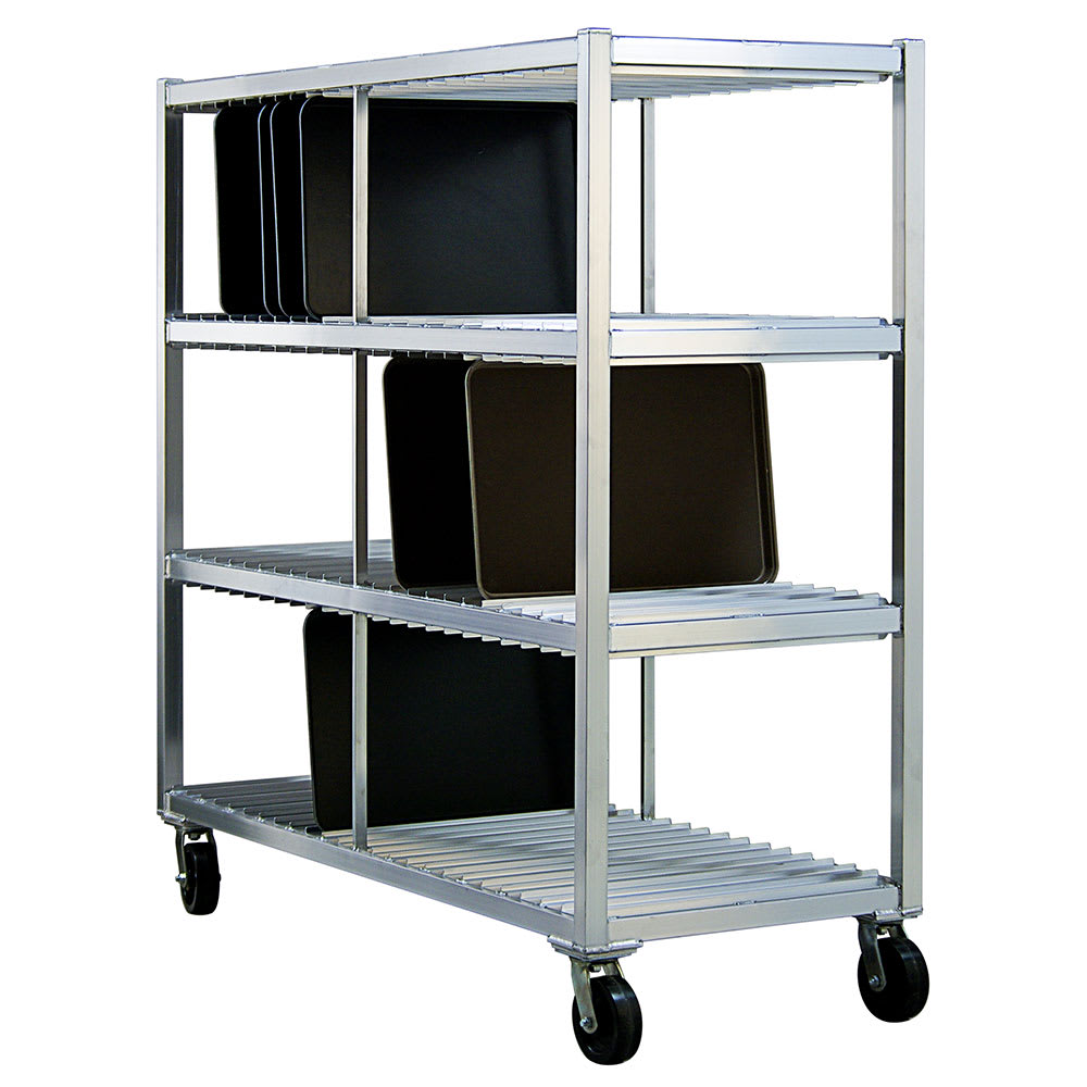New Age 96706 3 Level Mobile Drying Rack for Trays