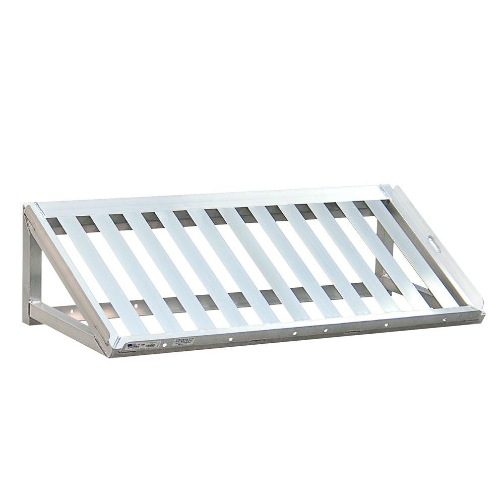 "New Age 97102 T-Bar Wall Mounted Shelf, 48""W x 13""D, Aluminum"