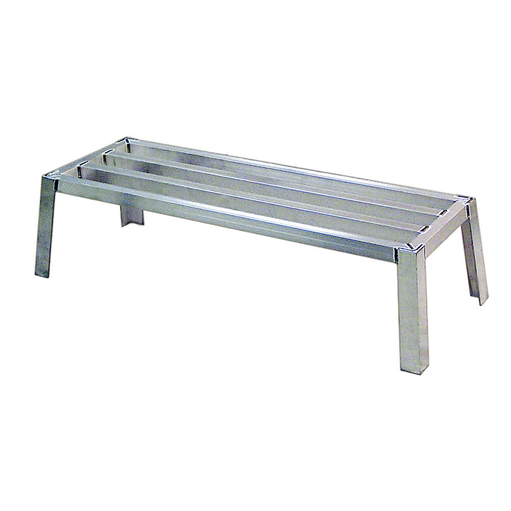 "New Age 97176 48"" Stationary Dunnage Rack w/ 2700-lb Capacity, Aluminum"