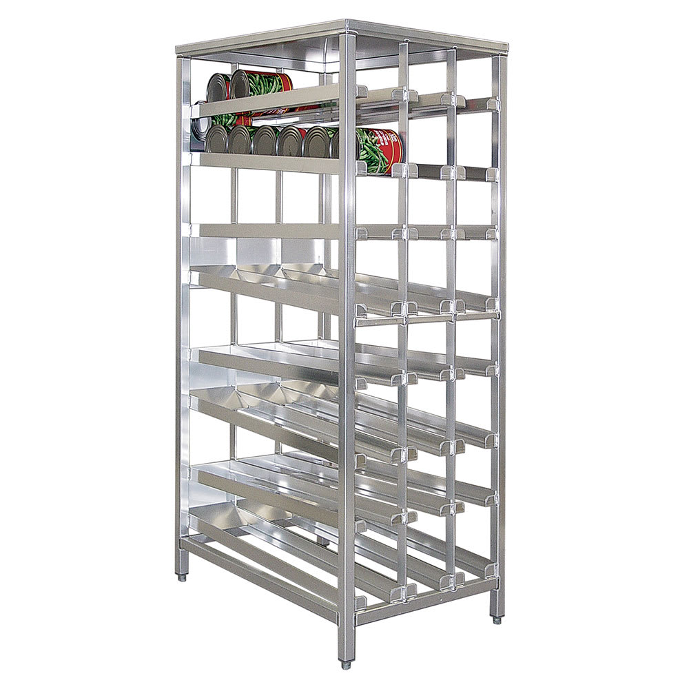"New Age 97294 79.5""H Stationary Can Rack w/ (156) #10 Capacity, Adjustable Feet"