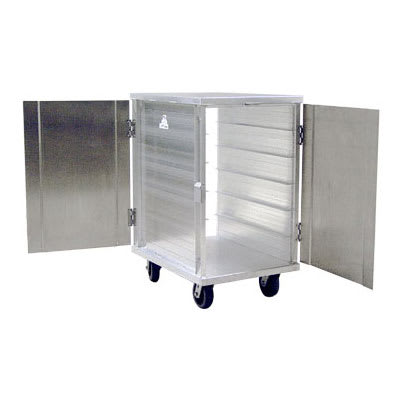 New Age 97655 12 Tray Cabinet Room Service Cart, Aluminum