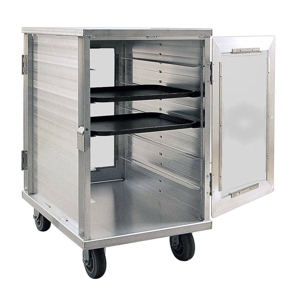 New Age 97655CD 12 Tray Cabinet Room Service Cart, Aluminum