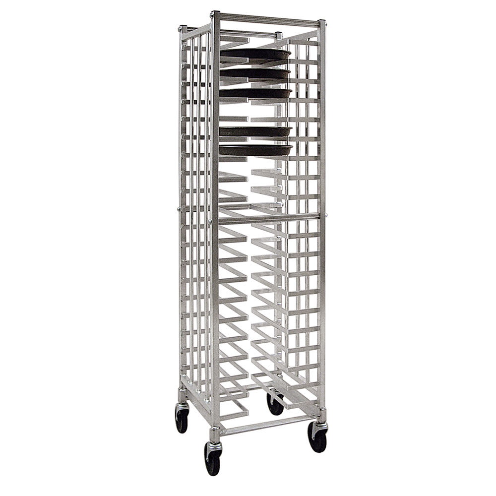 "New Age 97720 18.5""W 20 Pizza Pan Rack w/ 2.375"" Bottom Load Slides"