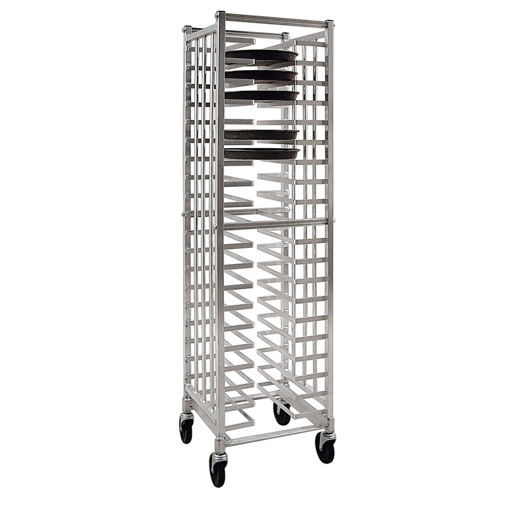 "New Age 97722 20.75""W 20 Pizza Pan Rack w/ 2.375"" Bottom Load Slides"
