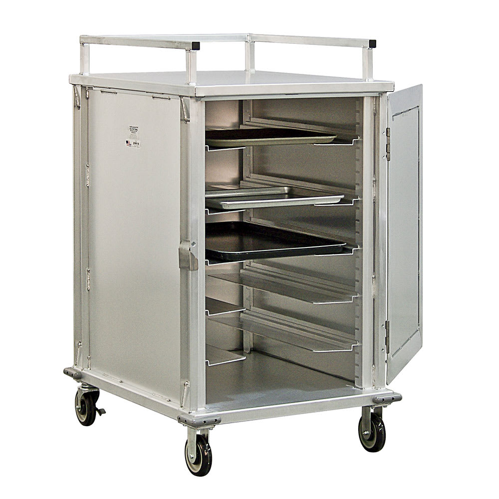 New Age 97830 12 Tray Cabinet Room Service Cart, Aluminum