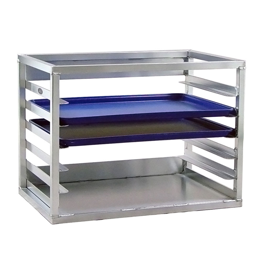 "New Age 98138 28.38""W 6 Bun Pan Rack w/ 3"" Bottom Load Slides"