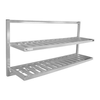 "New Age 98142 T-Bar Wall Mounted Shelf, 60""W x 16""D, Aluminum"