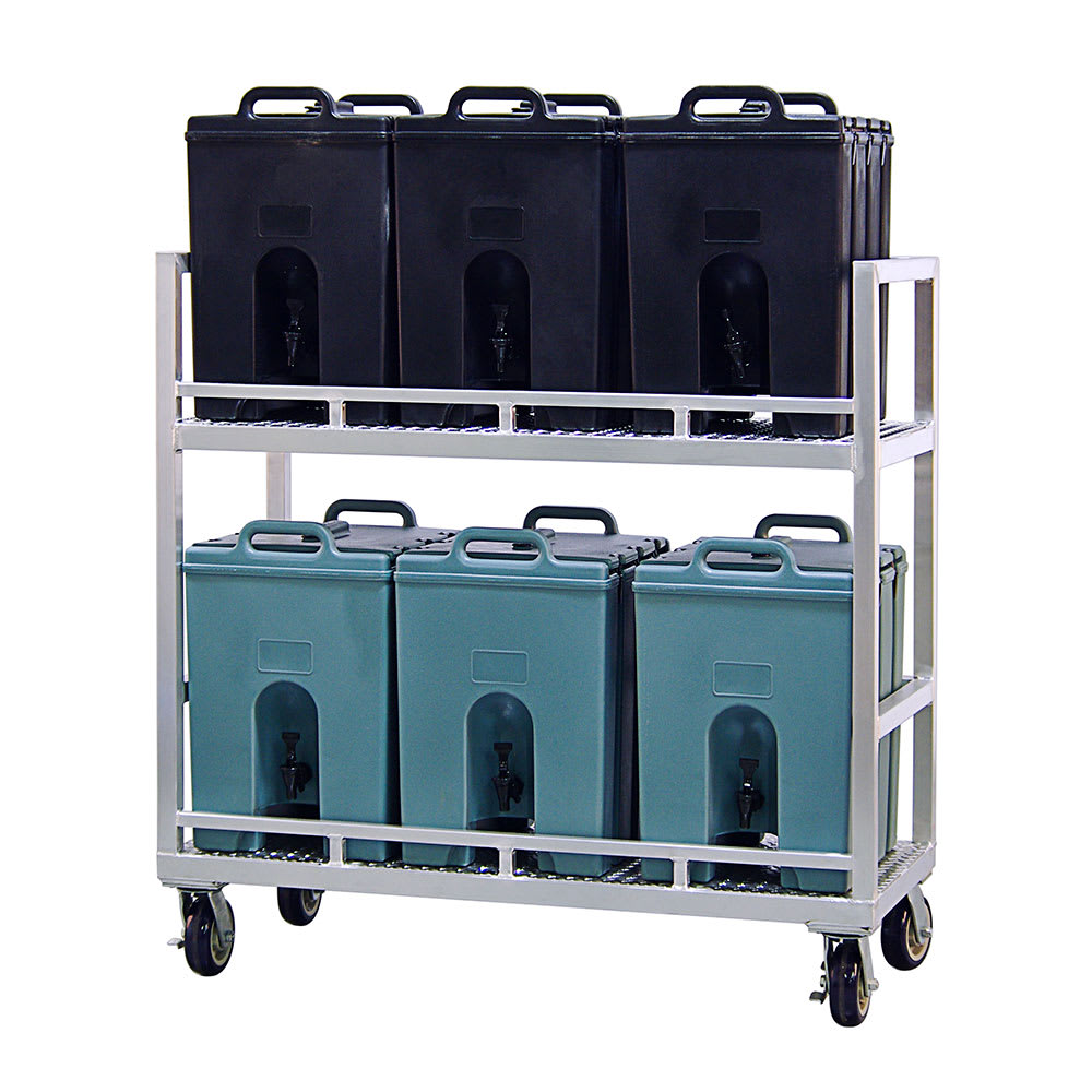 New Age 98399 Beverage Transport Cart w/ 6 Container Capacity
