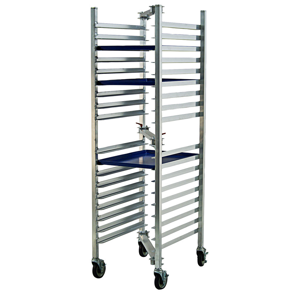 "New Age 98678 30""W 18 Bun Pan Rack w/ 3"" Bottom Load Slides"