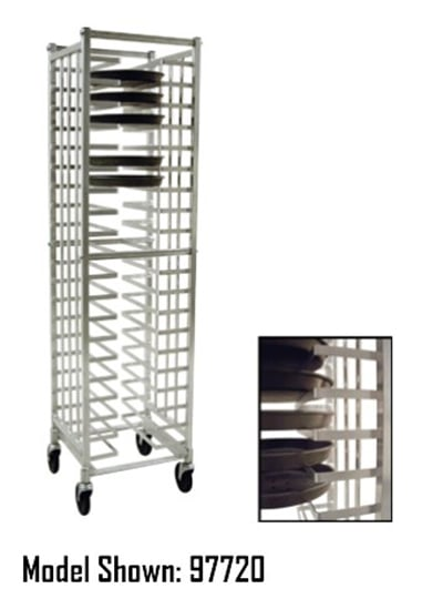 "New Age 99310 20.38""W 40 Pizza Pan Rack w/ 2.375"" Bottom Load Slides"
