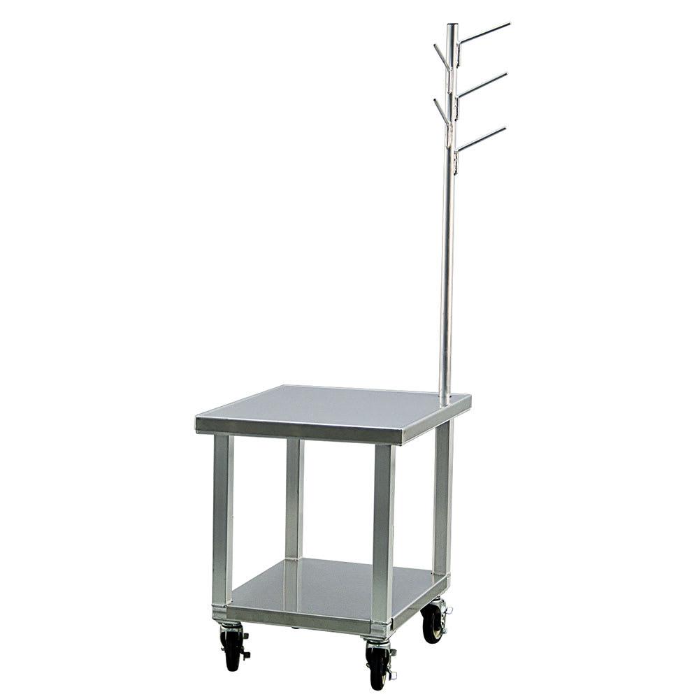 "New Age 99738 29"" Mixer Table w/ All Stainless Undershelf Base & Utensil Rack, 23""D"