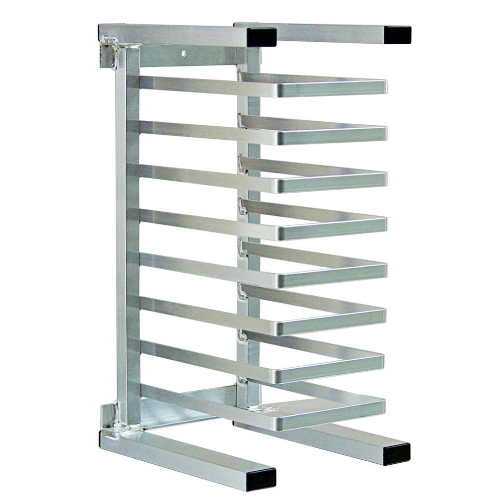 "New Age 99970 12""W 8 Pizza Pan Rack w/ 1.625"" Bottom Load Slides"