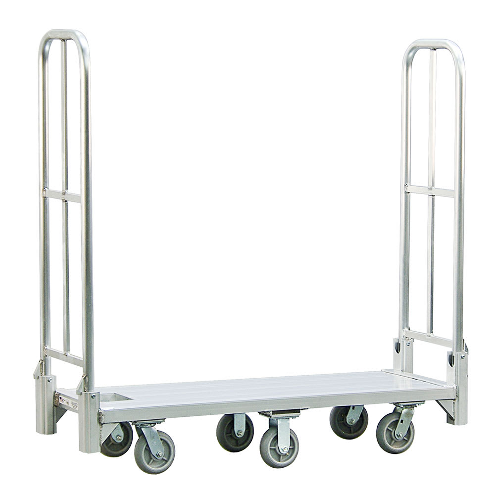New Age BDT18566 1 Level Aluminum Utility Cart w/ 1200 lb Capacity, Flat Ledges